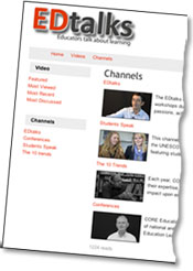 EDtalks video channels