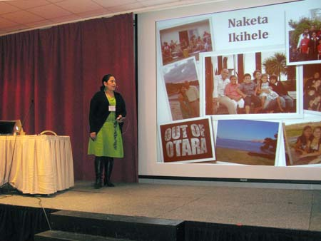Naketa presenting at Lillehammer, Norway