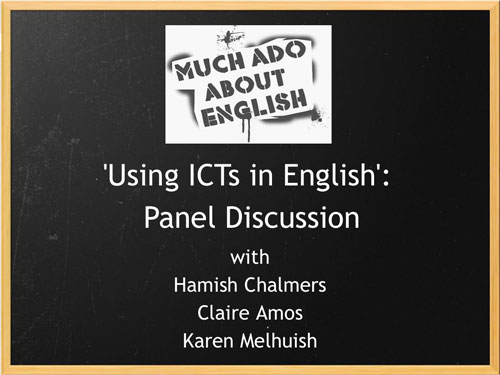 Using ICTs in English: to share or not to share