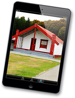 Photo of a marae pay in an iPad