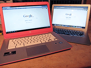Chromebook and Apple Air comparison