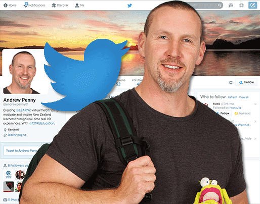 Andrew Penny and Twitter for LEARNZ