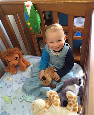 Ollie with bears