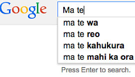 Google search for te reo words