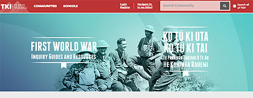 WW1 website main page