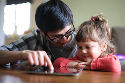 Working with child on a device