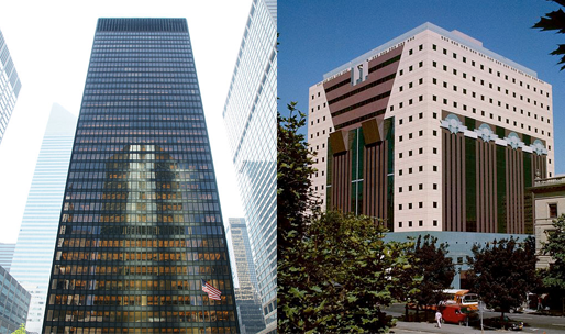 Seagram Building and Portland Building