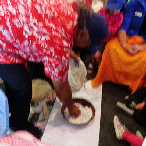 coconut demonstration