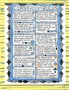 Classroom Rules by Lynda Barry