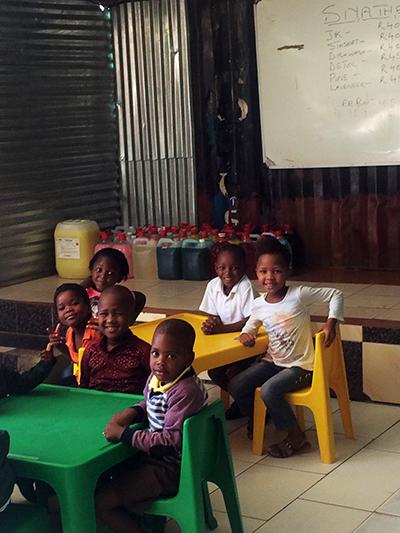 Children at the early childhood centre Eminathi Educare