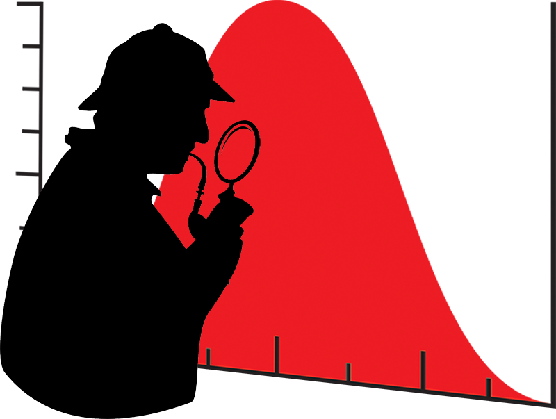 Sherlock Holmes and the bell curve