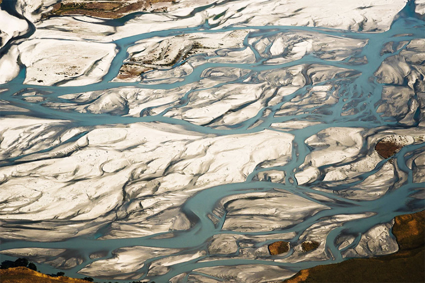 braided river and many streams