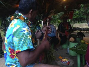 Down at the Tumunu on the island of Atiu