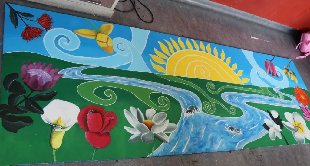 Combining Painting and Impact Project to create a mural for the local preschool